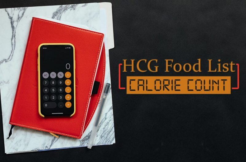 HCG Food List Calorie Count