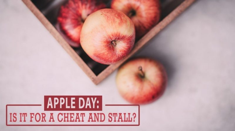 Apple day: Is it for a cheat and stall?