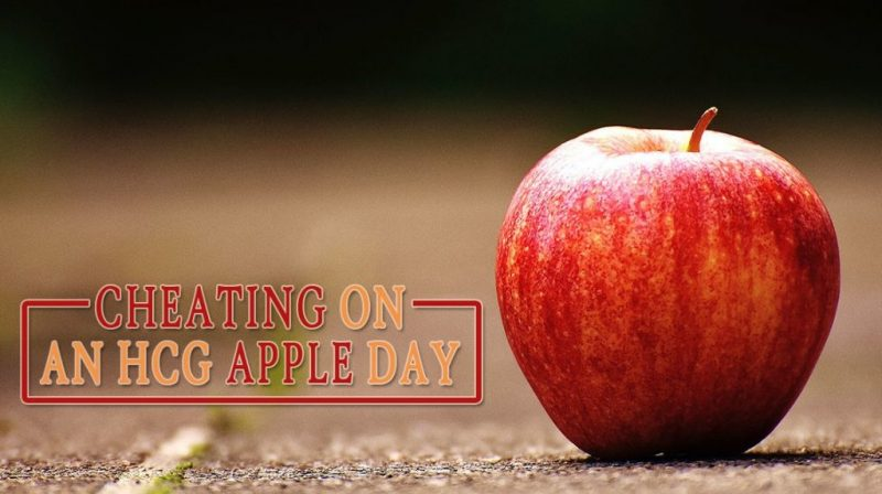 Cheating on an HCG Apple Day