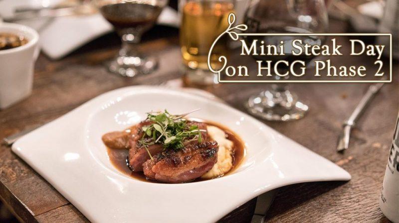 Mini Steak Day on HCG Phase 2