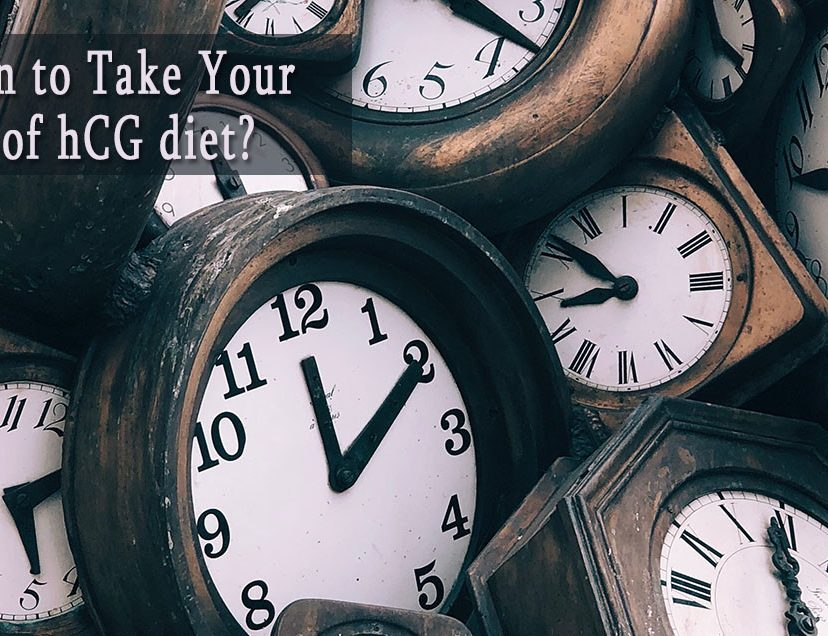 When to Take Your Shot of hCG diet?