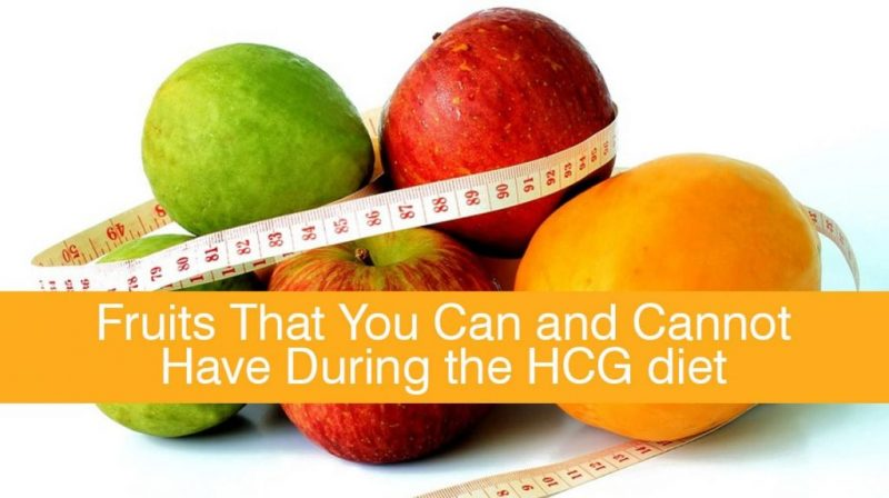 hcg diet how much fruit per day