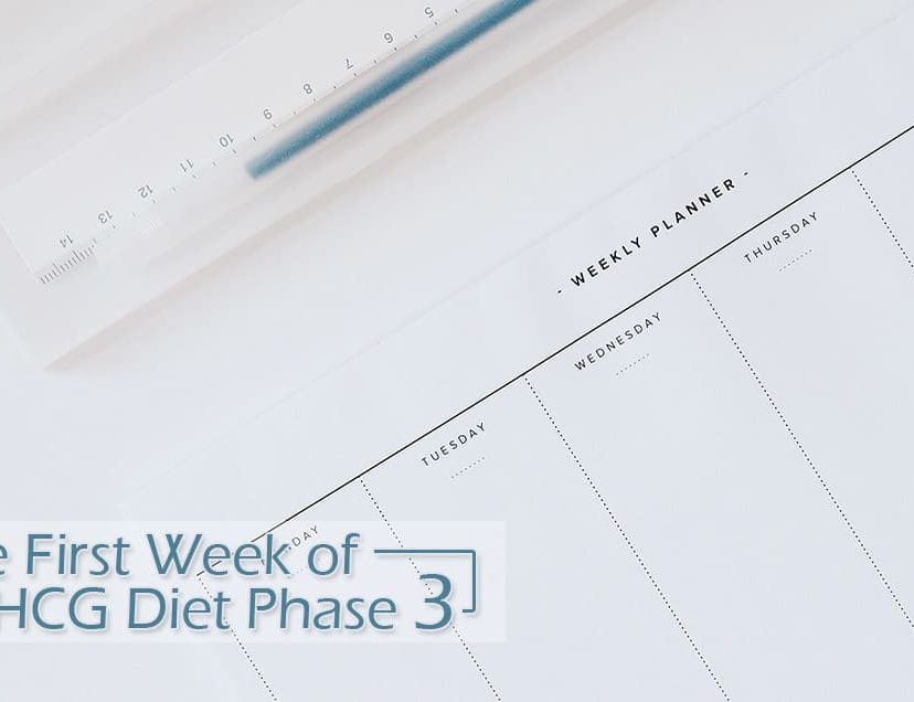 The First Week of HCG Diet Phase 3