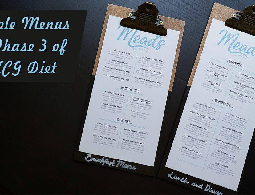 Sample Menus for Phase 3 of the HCG Diet
