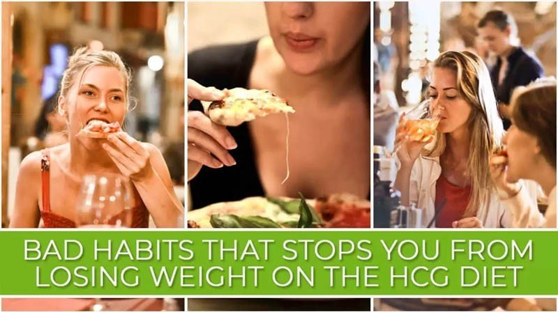 Bad Habits that Stops You from Losing Weight on the HCG Diet