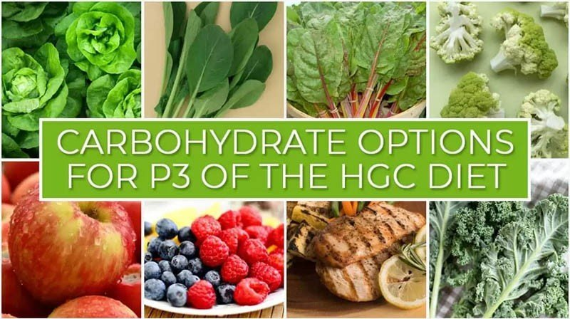 Carbohydrate Options for P3 of the HGC Diet