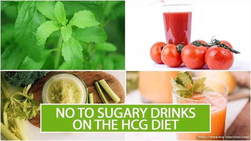 No to Sugary Drinks on the HCG Diet