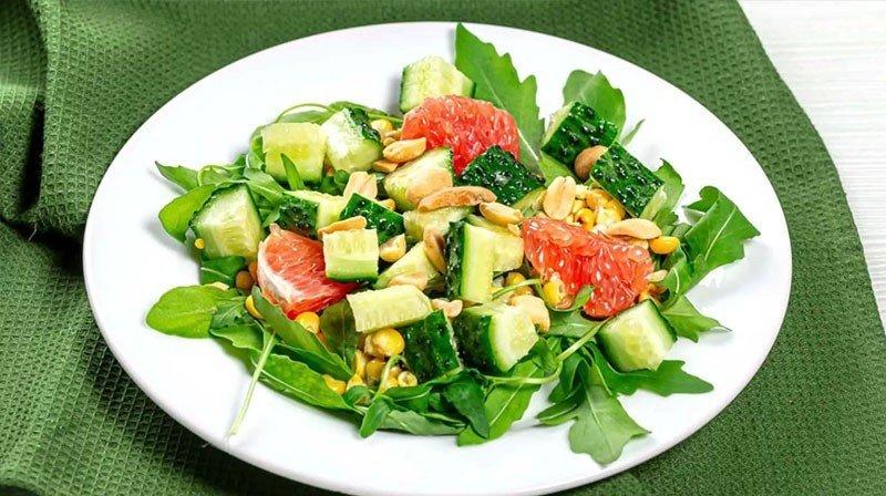 Cucumber Grapefruit Salad