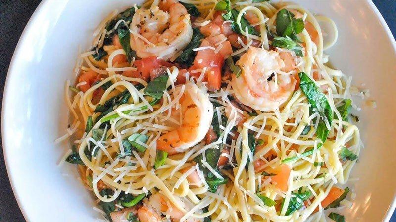 Garlic Shrimp and Cucumber Noodle Salad for Phase 3