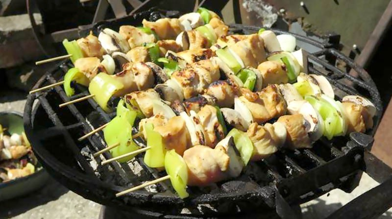 Chicken Barbeque with Steamed Brussels Sprouts