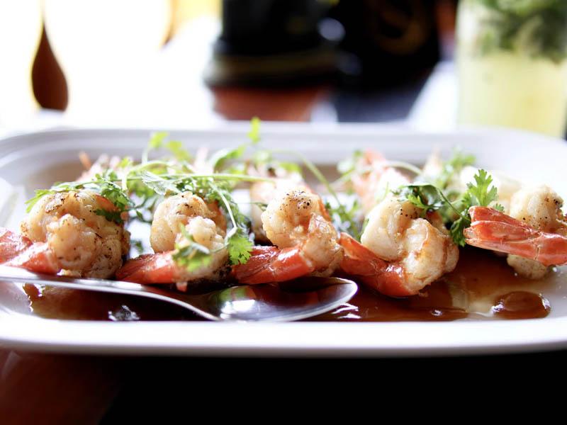 Zucchini-Shrimp Boats with Garlic and Basil